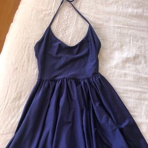 American Apparel Disco Mini Dress Blue